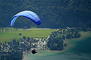 Paragliding from Schafberg in St. Wolfgang