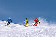 Skiing at Postalm near lake Wolfgang