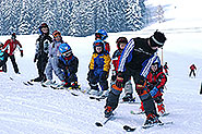 Skilessons at the Postalm near Strobl at lake Wolfgang